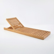amalfi teak sun lounger without cushions