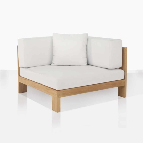 amalfi corner angle deep seating outdoor teak