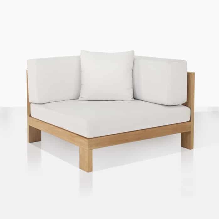 amalfi corner angle deep seating outdoor teak