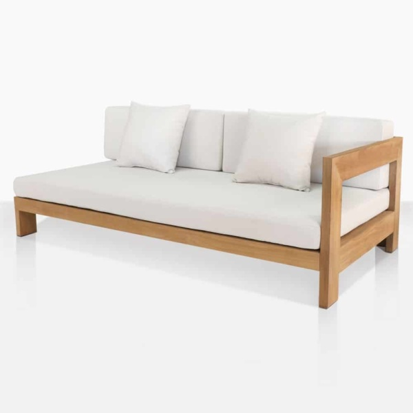 coast teak daybed left angle
