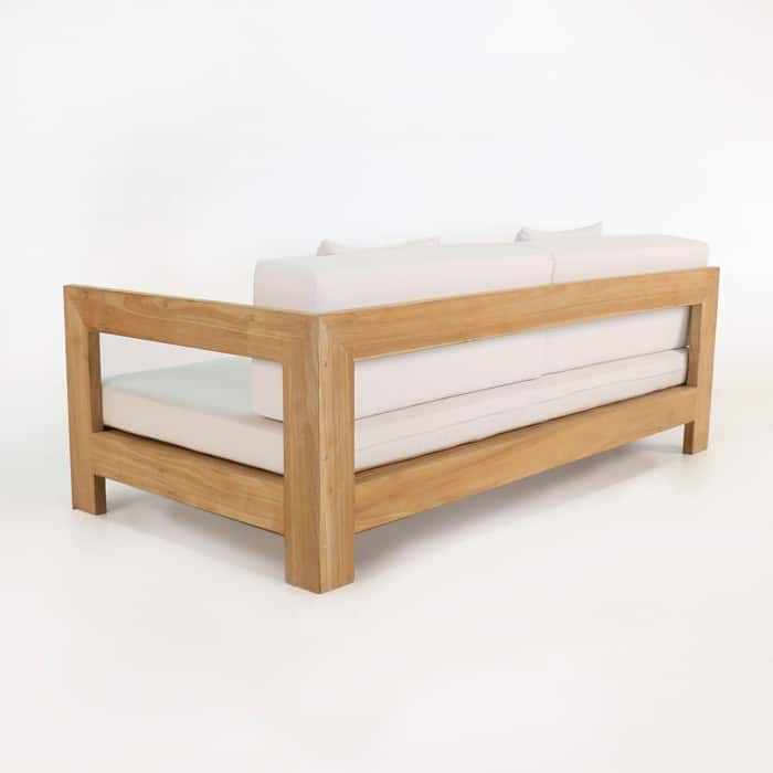 amalfi left armed teak daybed back view