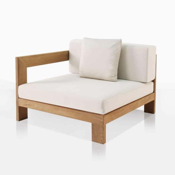 amalfi teak outdoor sectional end piece right