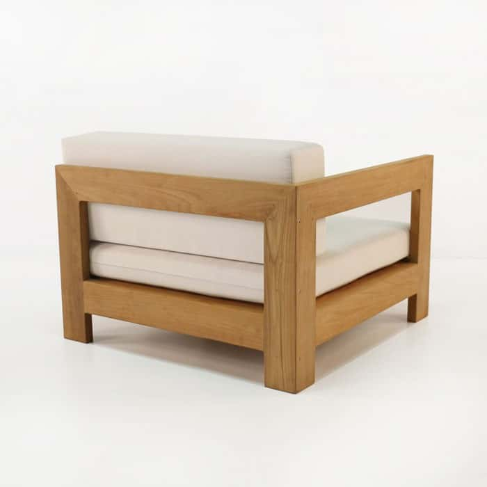 amalfi teak sectional end chair back view