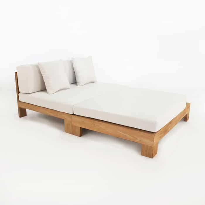 Amalfi teak chaise lounge design warehouse nz for Amalfi chaise lounge