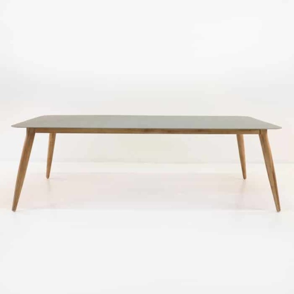 Edition Aluminum and Teak Outdoor Dining Table 240cm-1518