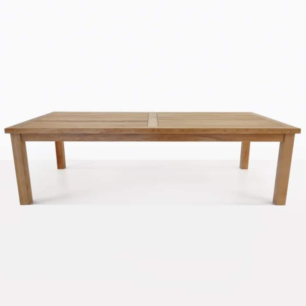 Hampton dining outdoor table straight teak