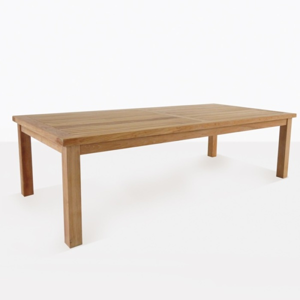 Hampton dining outdoor table angle teak