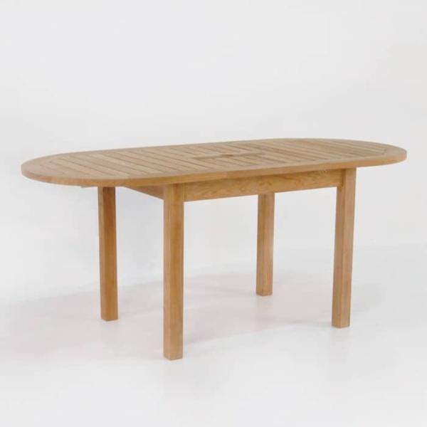 Nova Oval Teak Extension Outdoor Dining Tables-1548