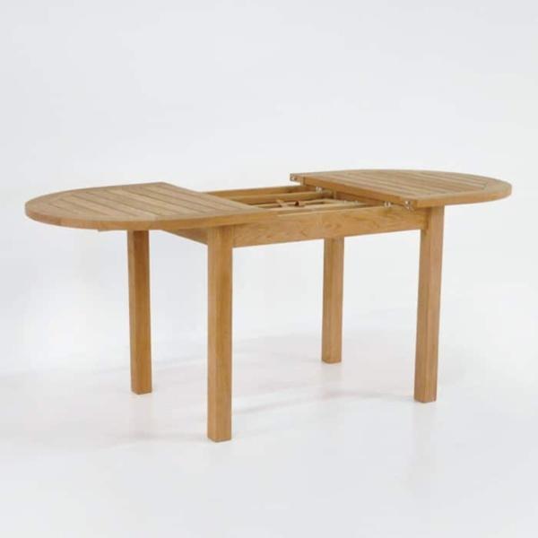 Nova Oval Teak Extension Outdoor Dining Tables-1549