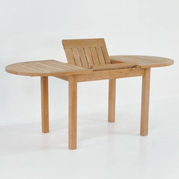 Nova Oval Teak Extension Outdoor Dining Tables-1547