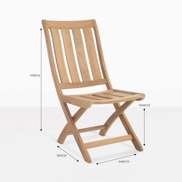 bella teak side chair