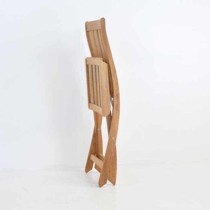 bella teak folding side chair collapsed