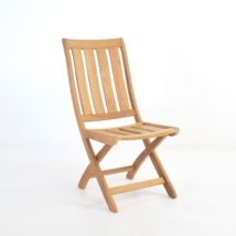 bella teak foldiing side chair