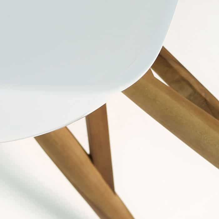 bistro modern dining chair closeup view