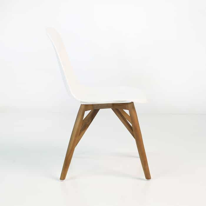 bistro modern dining chair side view
