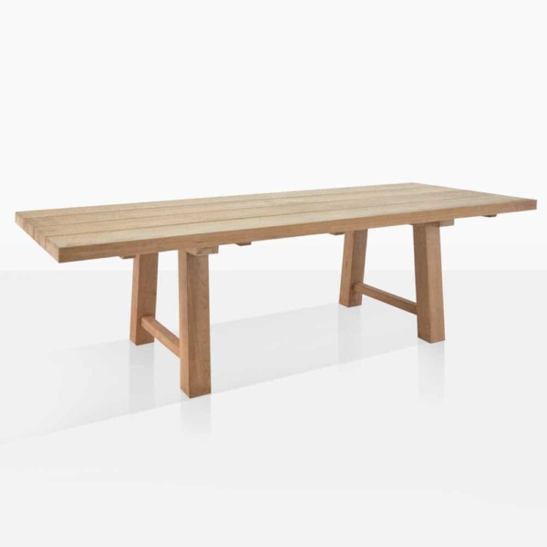 somerset teak trestle dining table angle