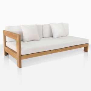 Amalfi right outdoor teak daybed right