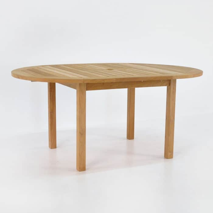 Nova Round Teak Extension Outdoor Dining Table Design