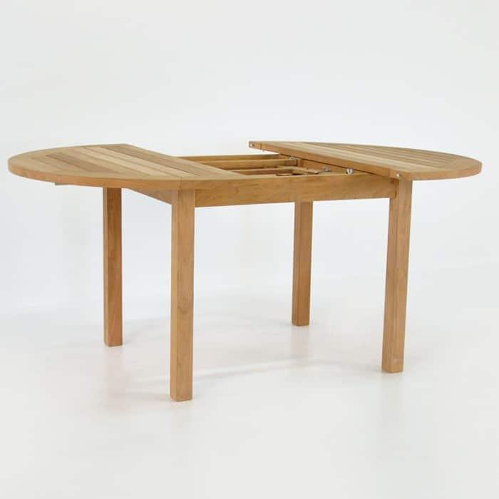 Nova Round Teak Extension Outdoor Dining Table Design