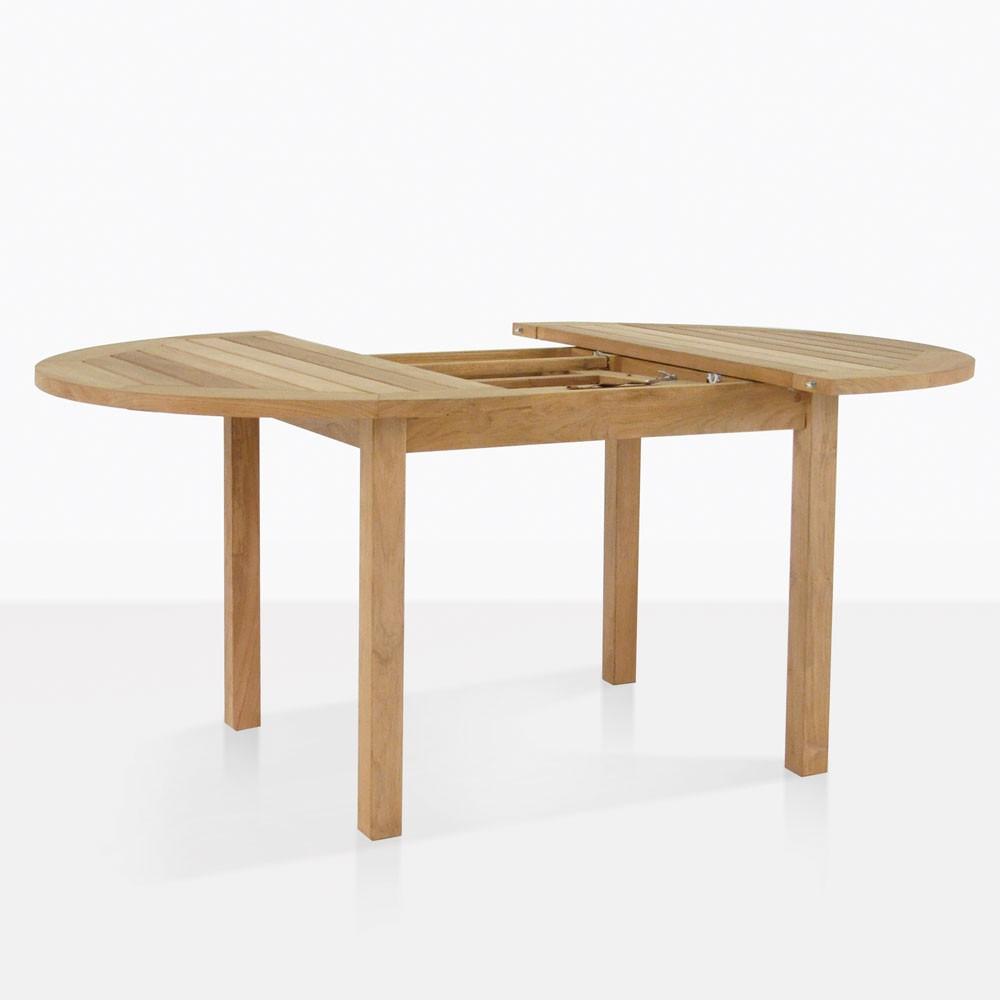 Nova Round Teak Extension Outdoor Dining Table Design Warehouse Nz
