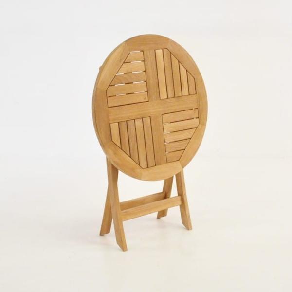 Round Teak Folding Dining Tables-1573