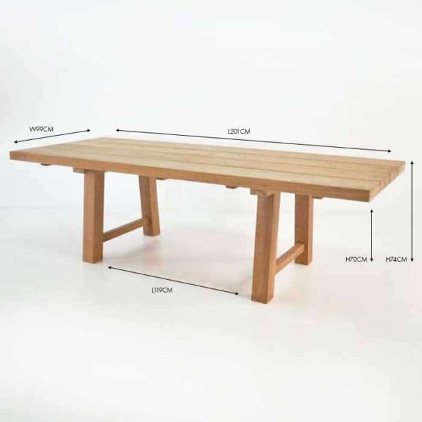 somerset trestle teak dining table