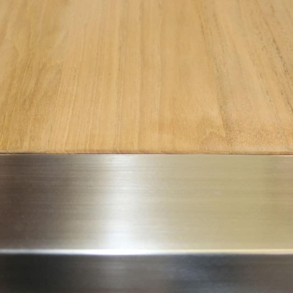 Close-up - Stainless Steel Bench