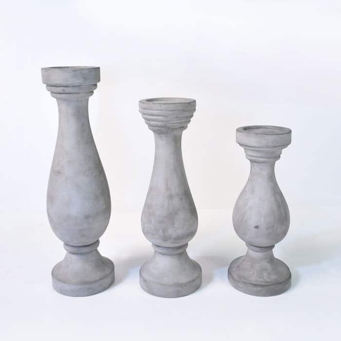 BLOK Concrete Candlestick-0
