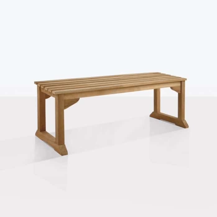 classic outdoor backless bench angle