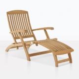 classic teak sun lounger chair