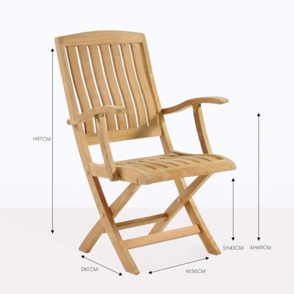 como teak folding dining chair