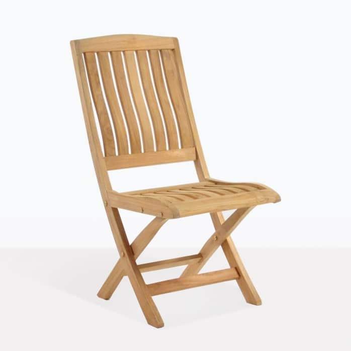 como folding chair angle teak