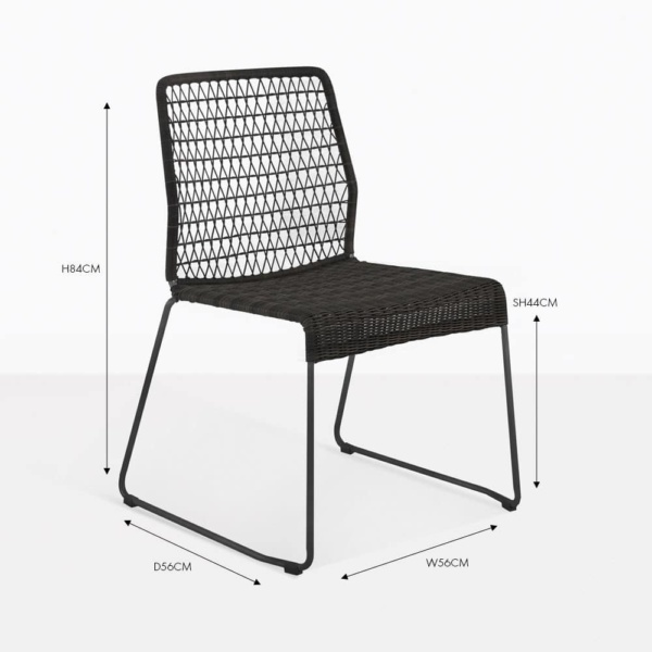 edge side wicker dining chair