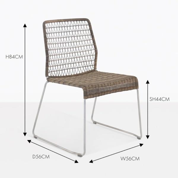 edge wicker dining side chair sampulut