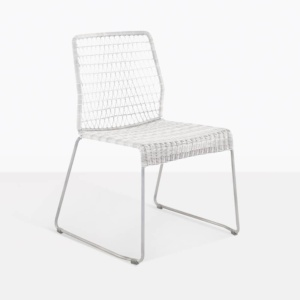 edge dining chair chalk white side weave ecolene
