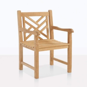 Elizabeth outdoor teak arm dining chair