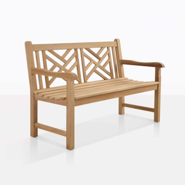 Elizabeth 2 seater outdoor teak bench