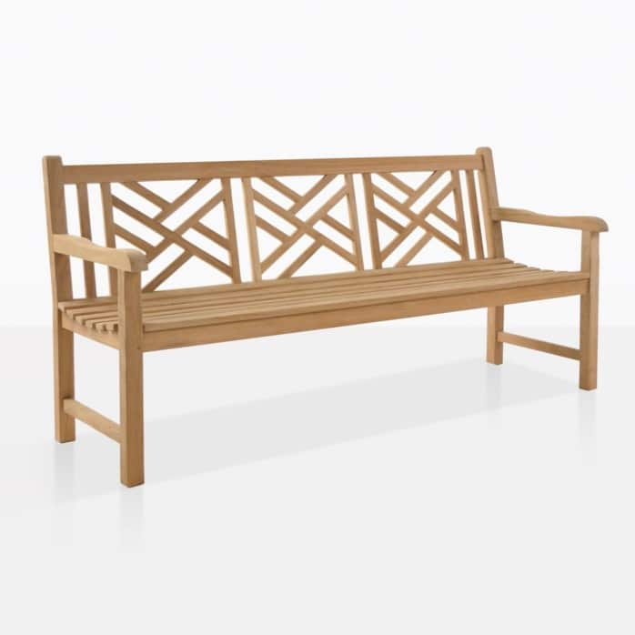 Elizabeth teak 3 seater outdoor bench
