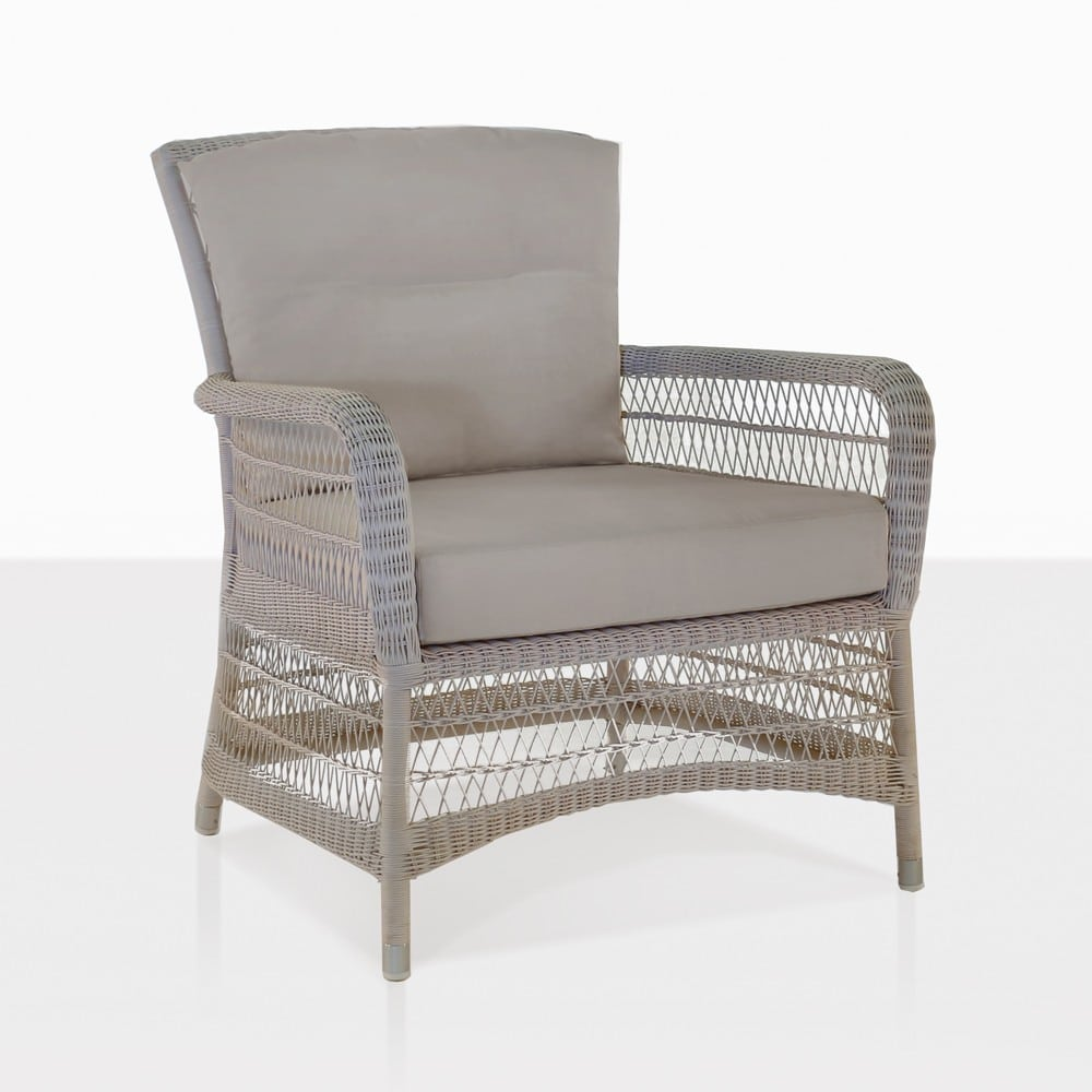 Hampton Wicker Patio Chair With Cushions