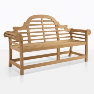 Lutyens 2 seater teak wood outdoor bench
