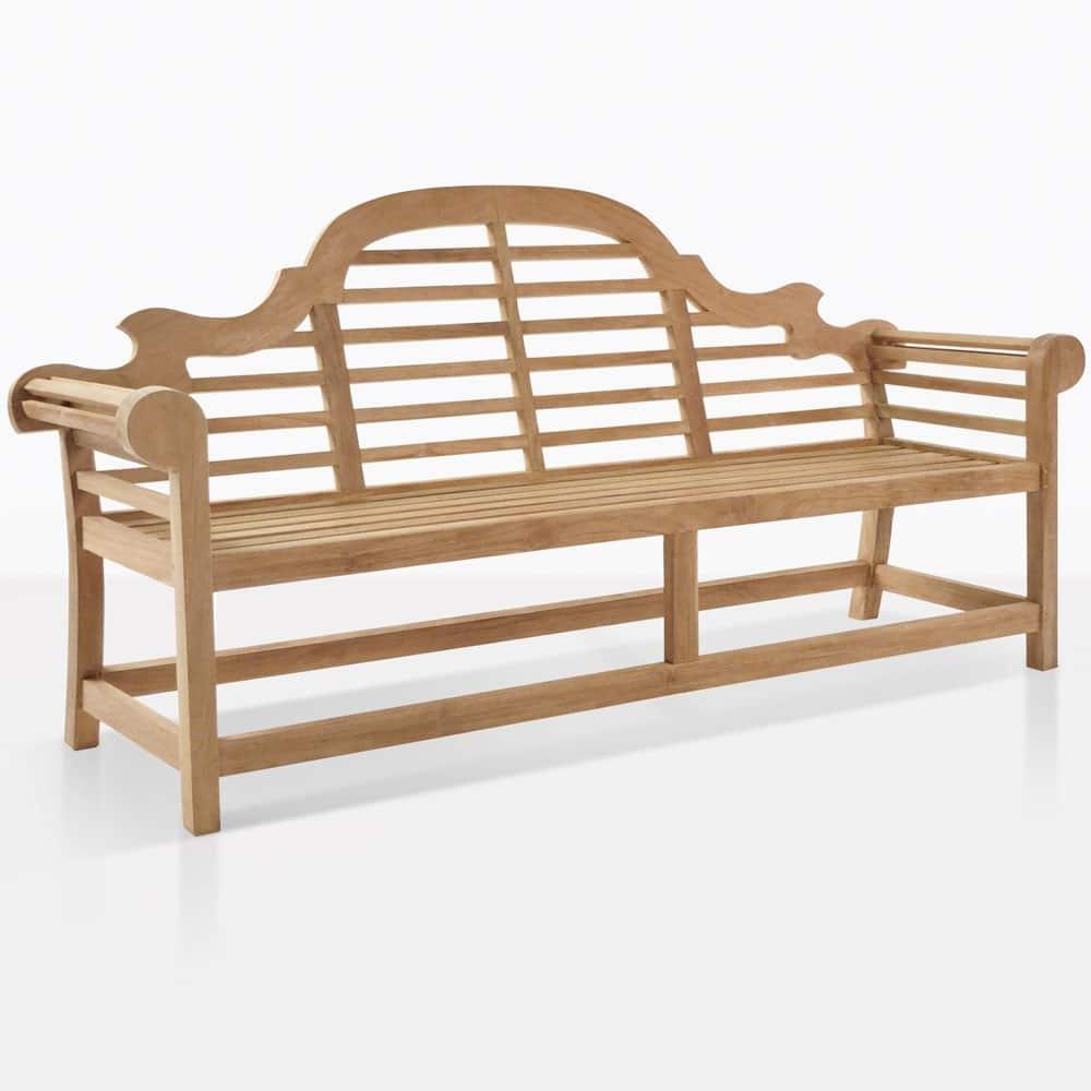 Lutyens Outdoor Bench In Teak 3 Seat
