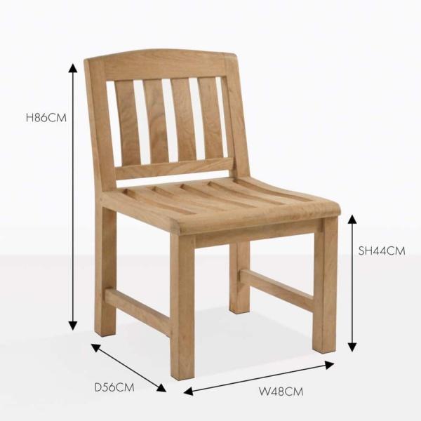 Newport teak side chair