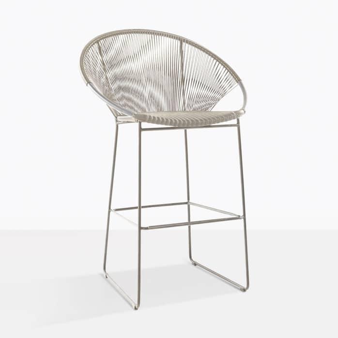 Pietro bar stool taupe angle