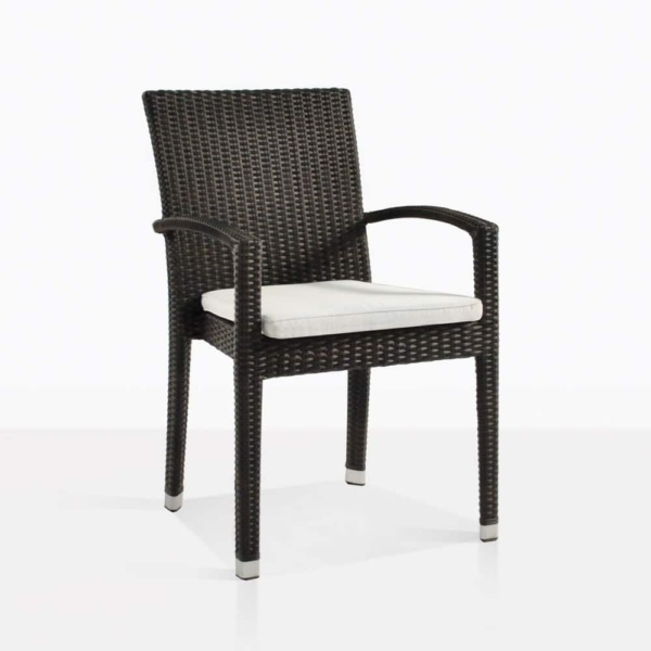 Romansa wicker arm outdoor chair java with cushion