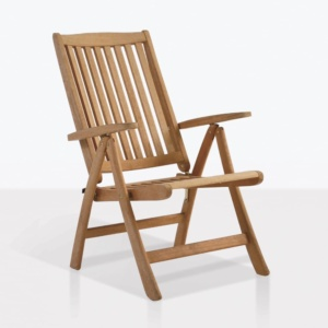 st. Moritz teak folding relaxing reclining chair angle