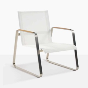 Summer Low Relaxing Chair With White Mesh