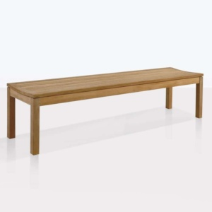 Toscana teak backless outdoor bench