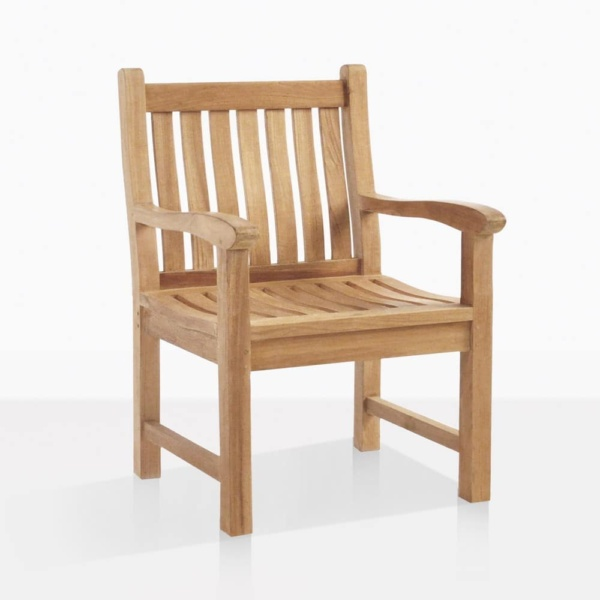 Wave Teak Dining Arm Chair