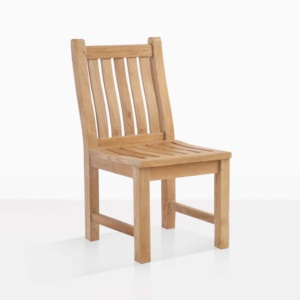 Wave Teak Dining Chair outdoor angle
