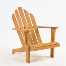 Teak Adirondack Chair front angle view